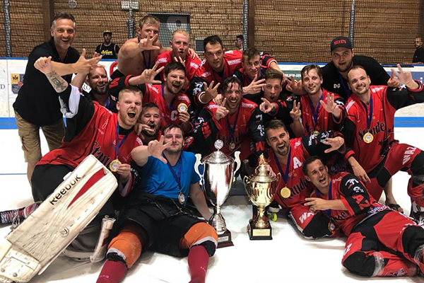 SHC Rockets Essen from Germany won the IISHF Men Challenge European Cup (Cup Winners Cup) 2018.